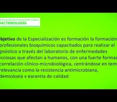 Especialización en Bioquímica Clínica: Bacteriología